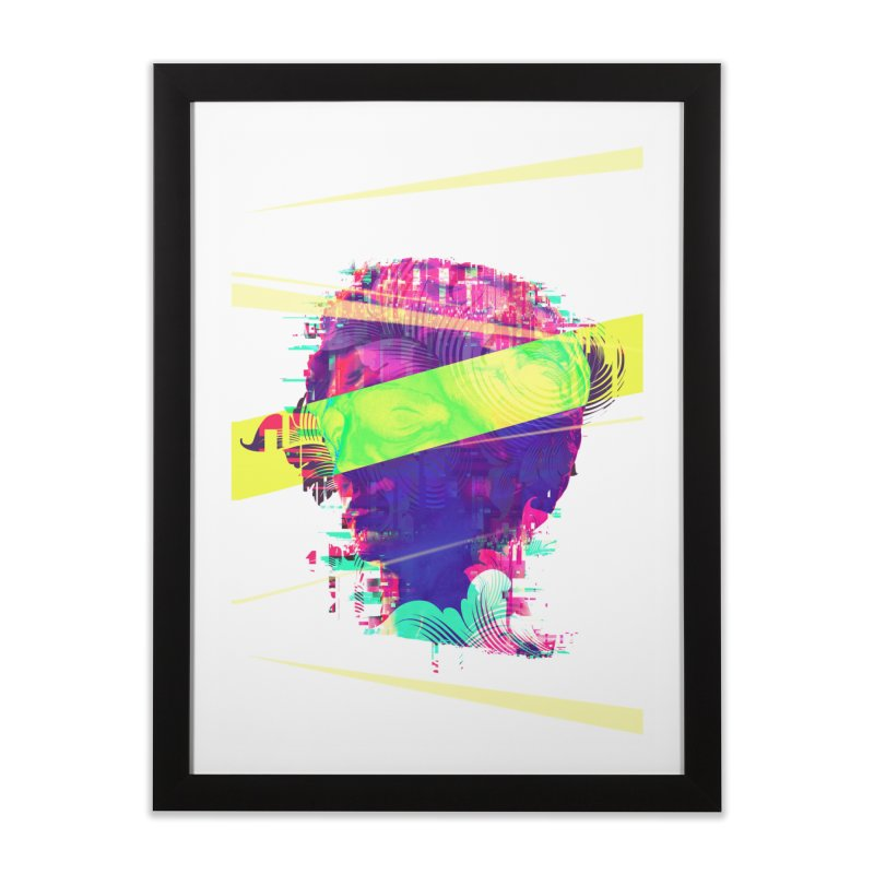 Artistic LXXI - Glitchy Dope Portrait Home Framed Fine Art Print by Abstract designs