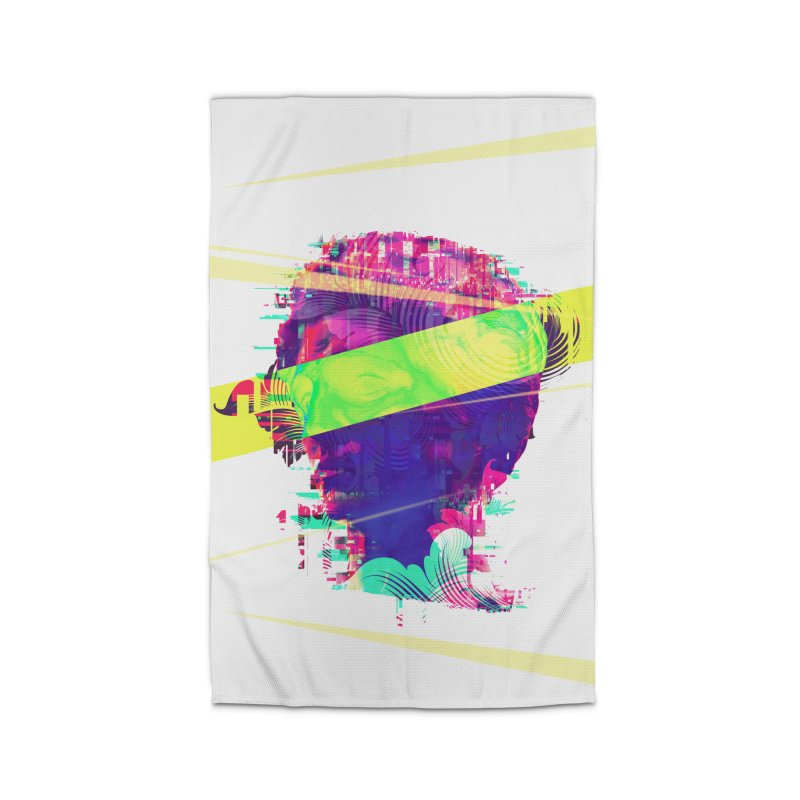 Artistic LXXI - Glitchy Dope Portrait Home Rug by Abstract designs