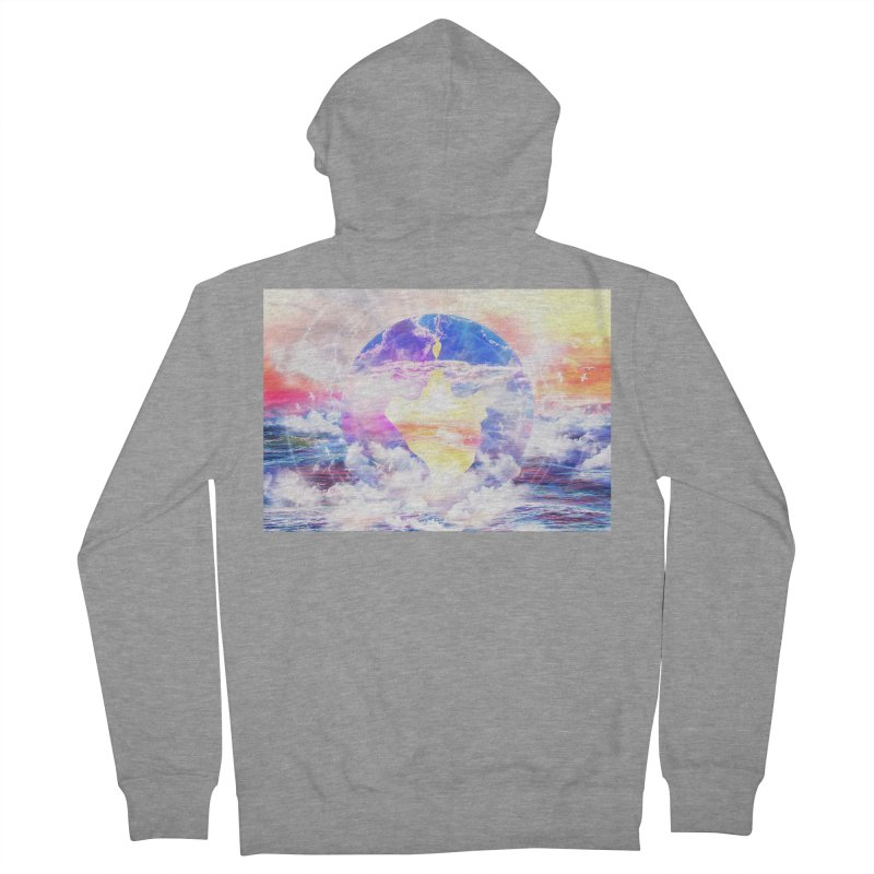 Artistic - XXII - Love is happiness Women's Zip-Up Hoody by Abstract designs
