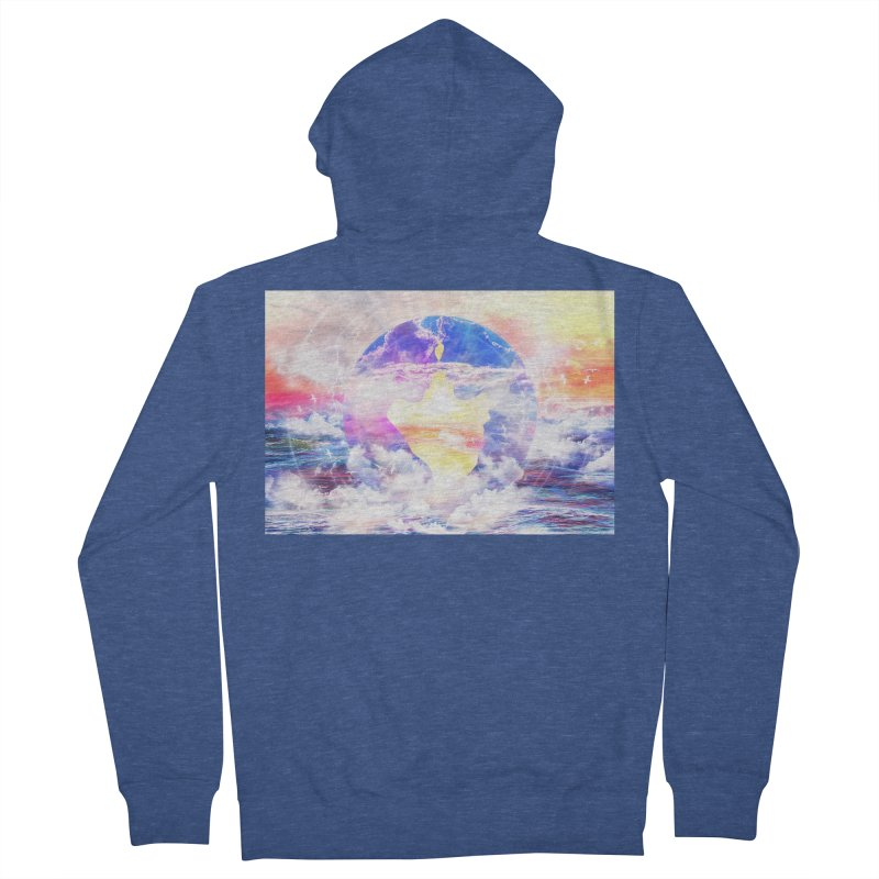 Artistic - XXII - Love is happiness Men's Zip-Up Hoody by Abstract designs