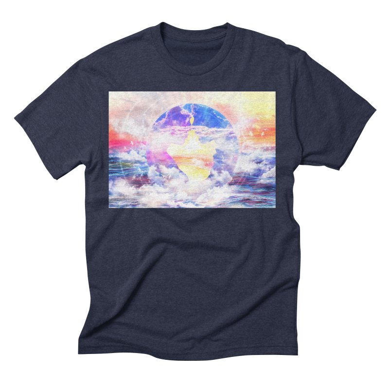 Artistic - XXII - Love is happiness Men's Triblend T-Shirt by Abstract designs