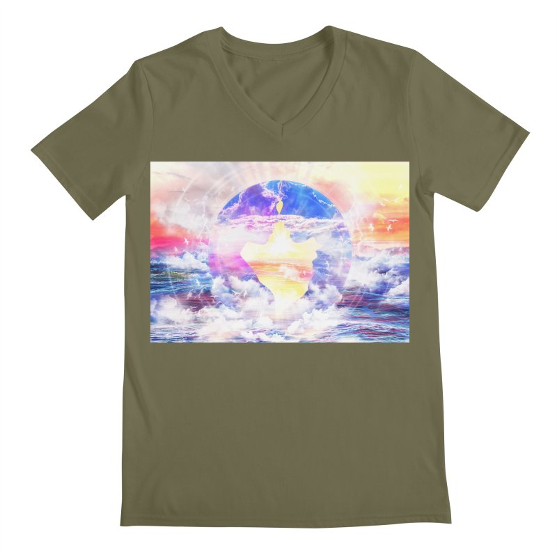 Artistic - XXII - Love is happiness Men's V-Neck by Abstract designs