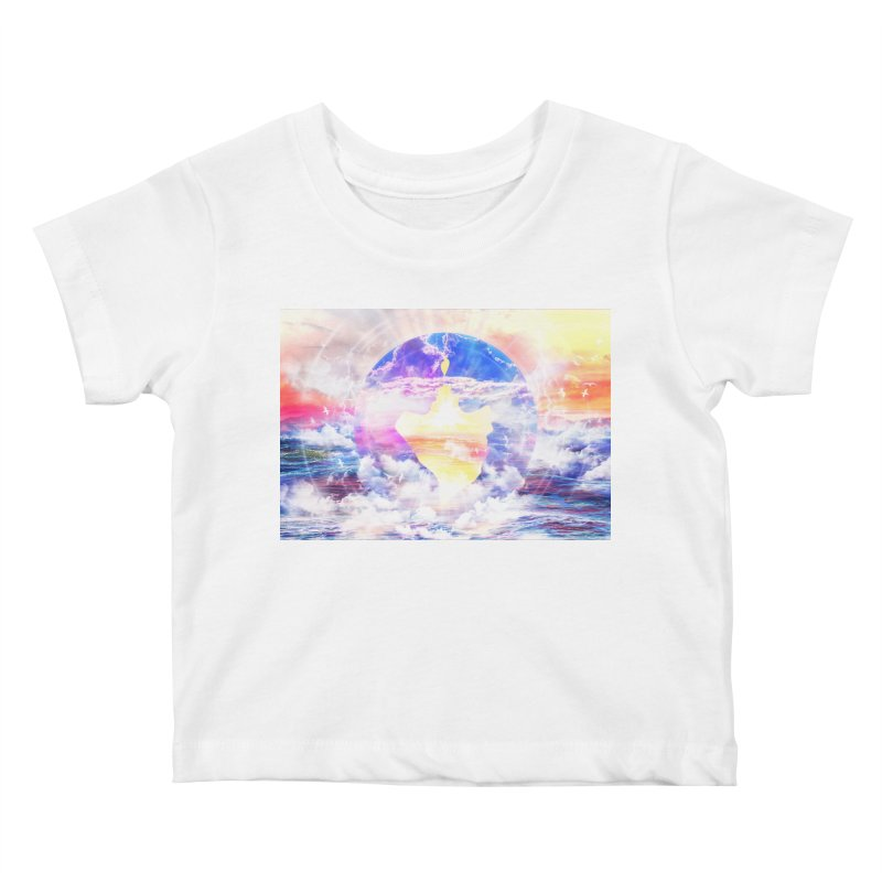 Artistic - XXII - Love is happiness Kids Baby T-Shirt by Abstract designs