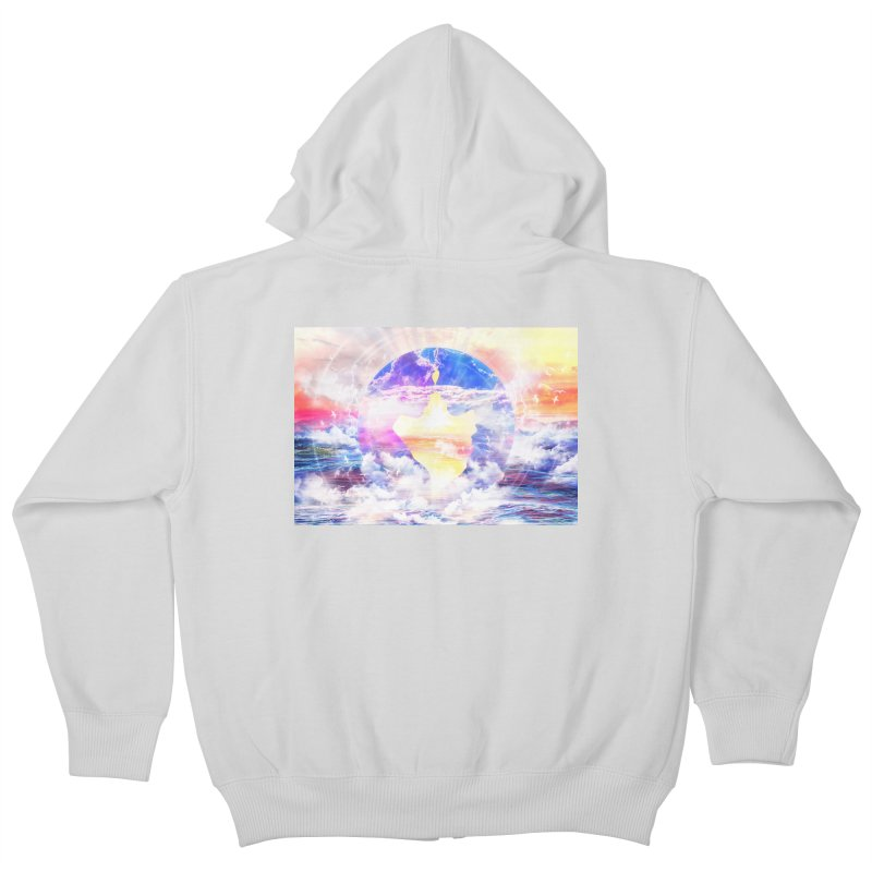 Artistic - XXII - Love is happiness Kids Zip-Up Hoody by Abstract designs