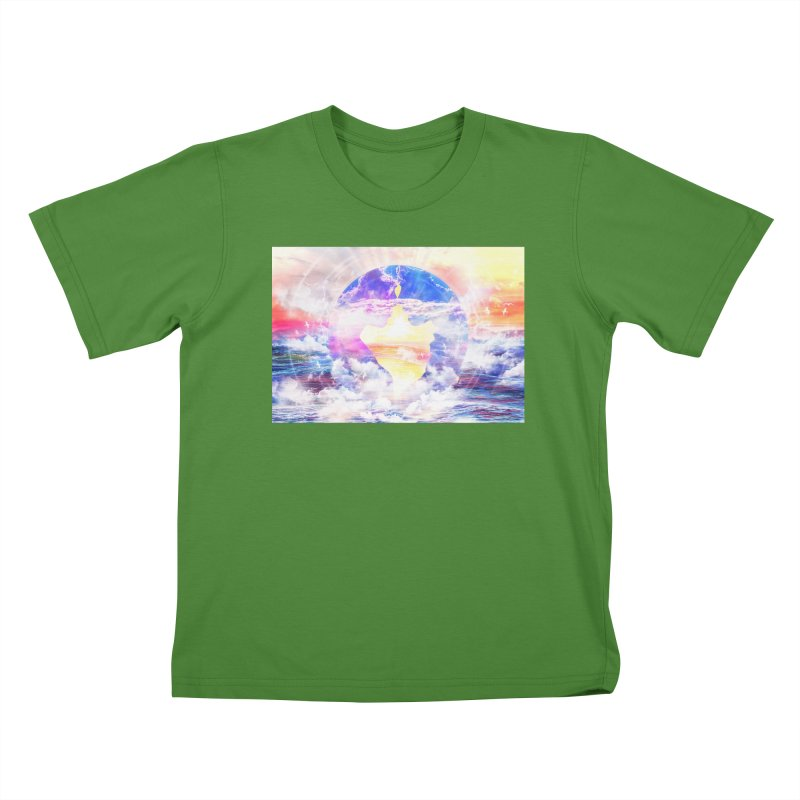 Artistic - XXII - Love is happiness Kids T-Shirt by Abstract designs