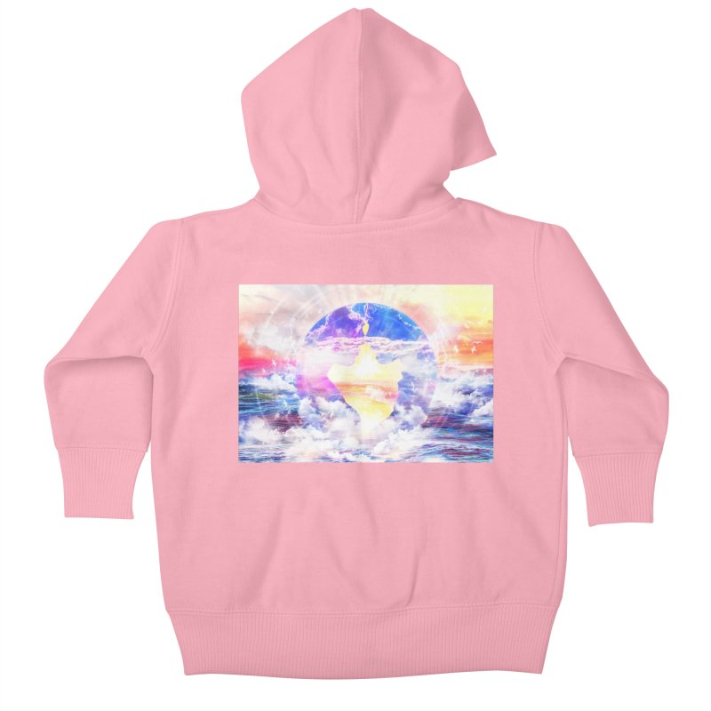 Artistic - XXII - Love is happiness Kids Baby Zip-Up Hoody by Abstract designs