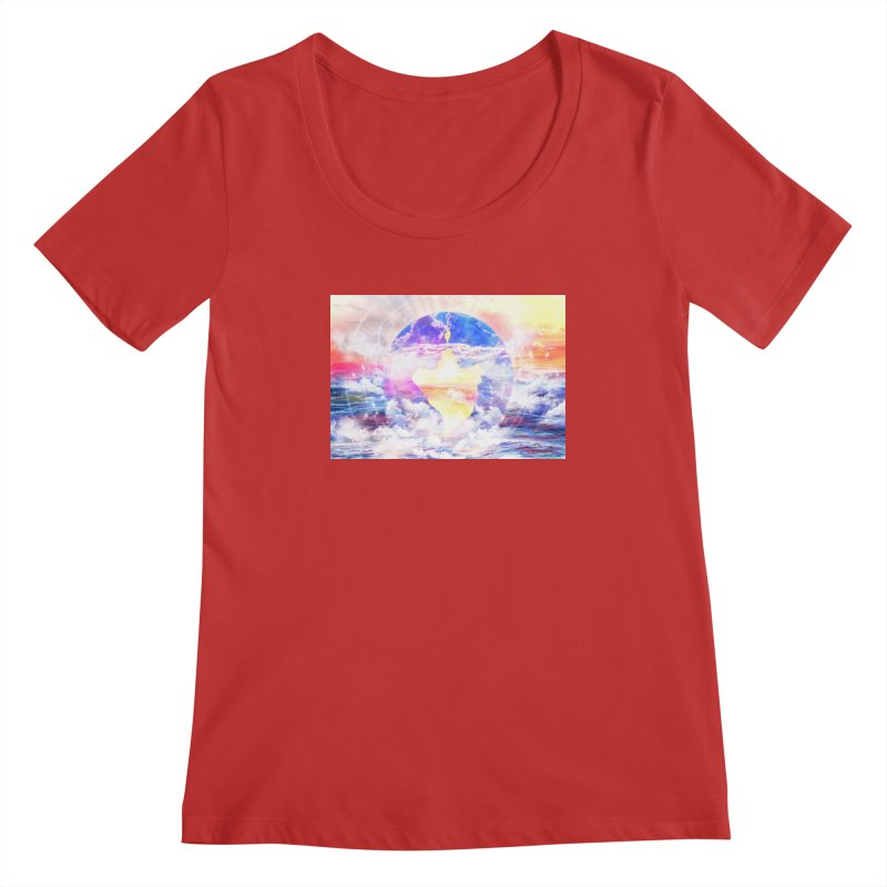 Artistic - XXII - Love is happiness Women's Scoopneck by Abstract designs