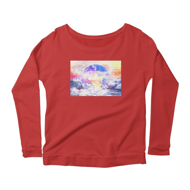 Artistic - XXII - Love is happiness Women's Longsleeve Scoopneck  by Abstract designs