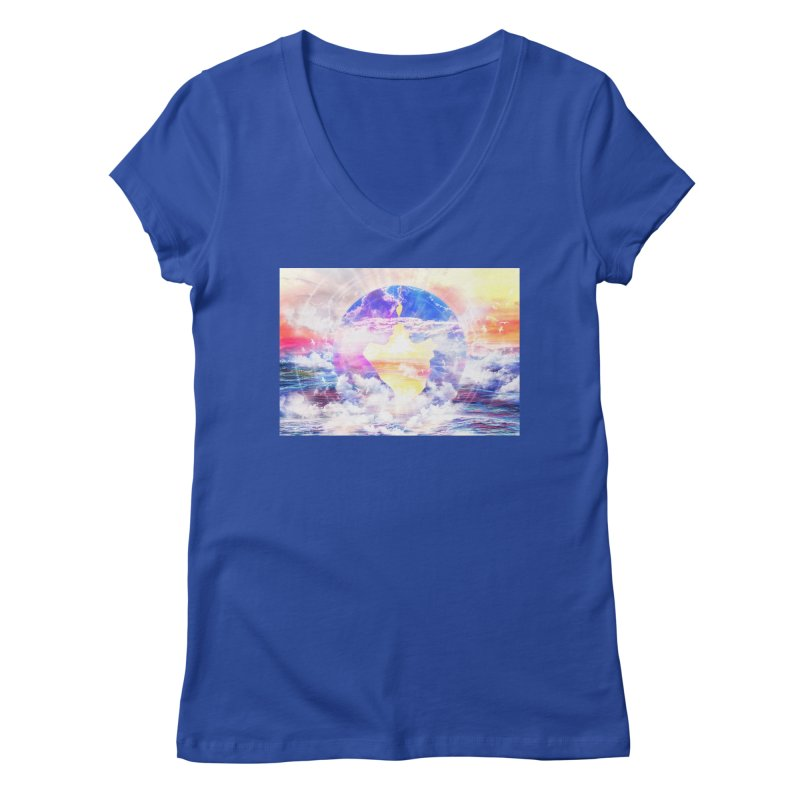 Artistic - XXII - Love is happiness Women's V-Neck by Abstract designs