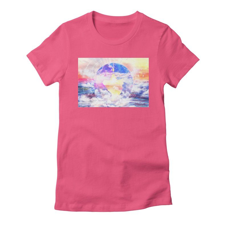 Artistic - XXII - Love is happiness Women's Fitted T-Shirt by Abstract designs