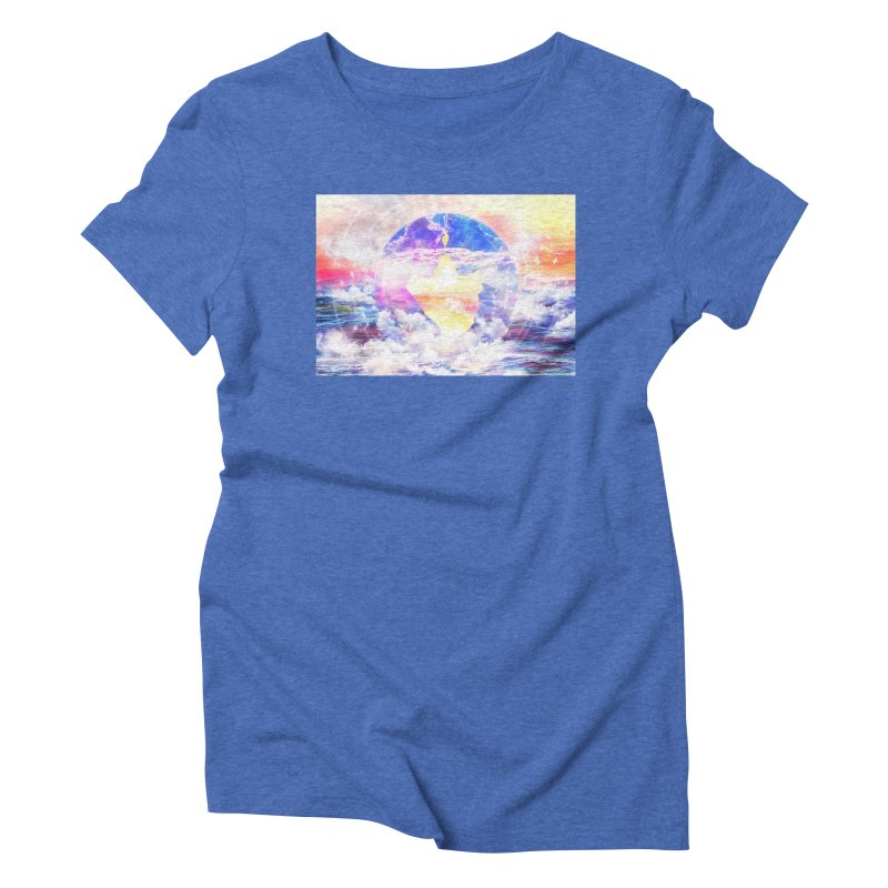Artistic - XXII - Love is happiness Women's Triblend T-Shirt by Abstract designs