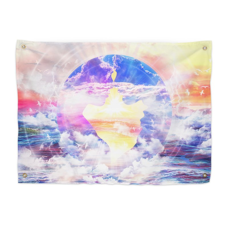 Artistic - XXII - Love is happiness Home Tapestry by Abstract designs