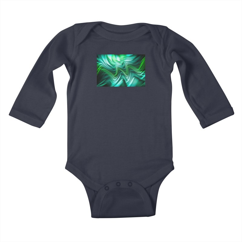 Fractal Art XXXV Kids Baby Longsleeve Bodysuit by Abstract designs