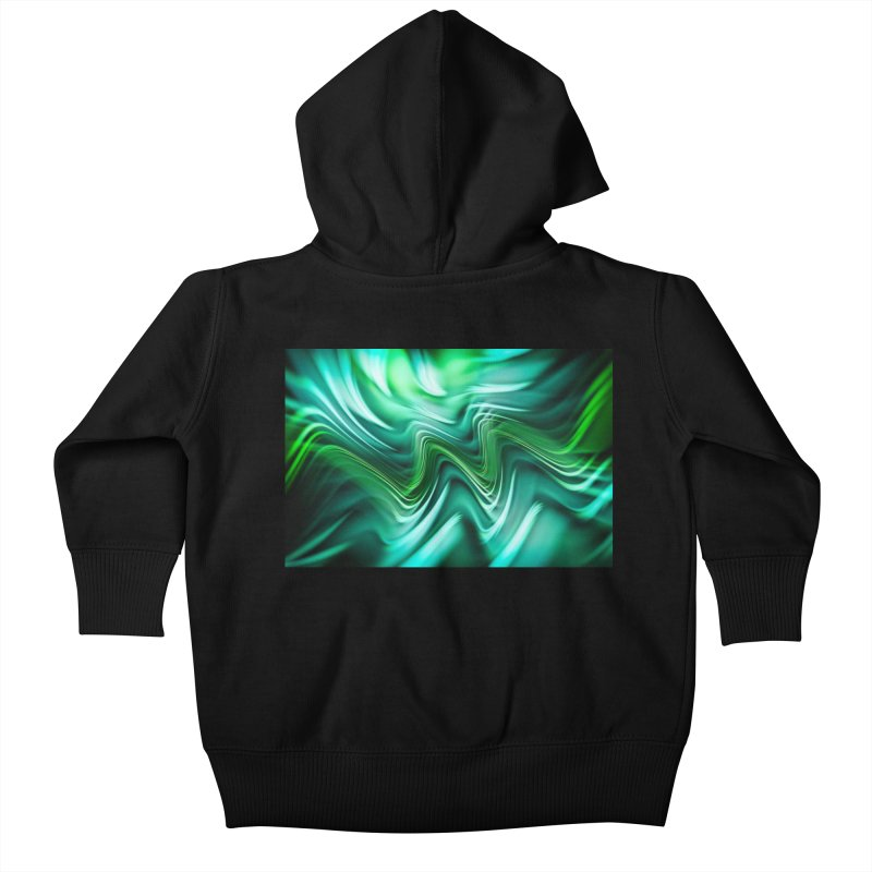 Fractal Art XXXV Kids Baby Zip-Up Hoody by Abstract designs