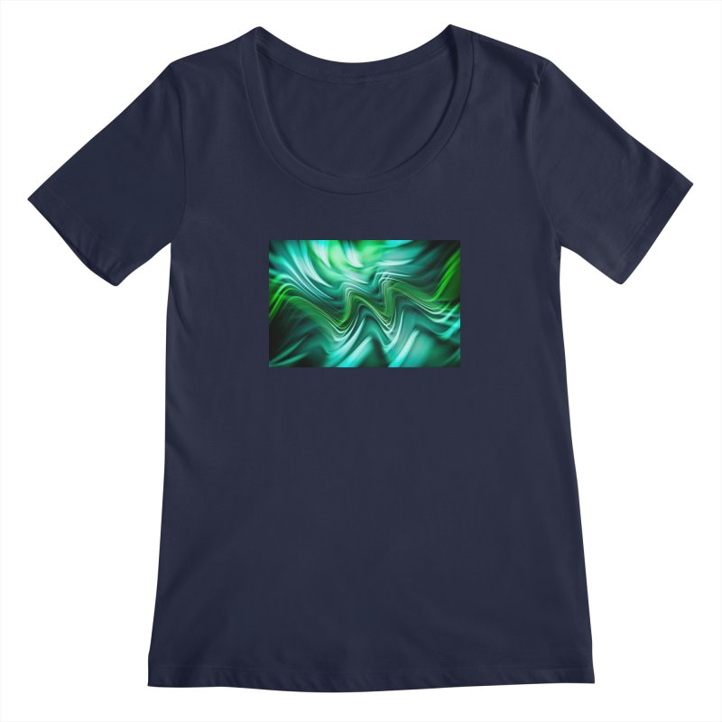 Fractal Art XXXV Women's Scoopneck by Abstract designs
