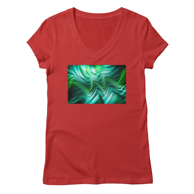 Fractal Art XXXV Women's V-Neck by Abstract designs