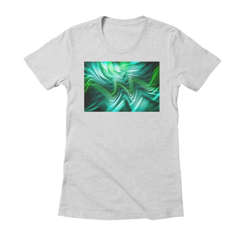Fractal Art XXXV Women's Fitted T-Shirt by Abstract designs