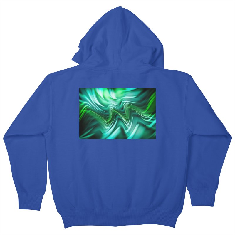Fractal Art XXXV Kids Zip-Up Hoody by Abstract designs