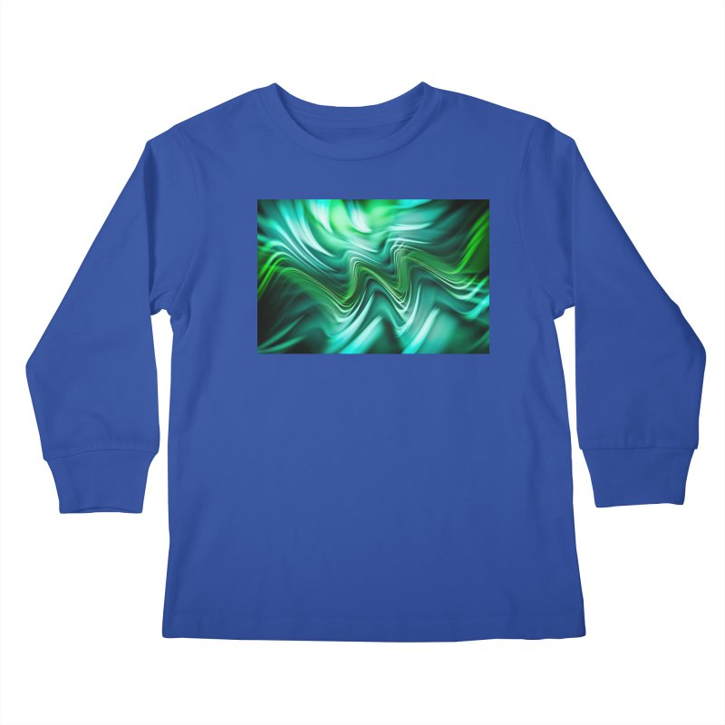 Fractal Art XXXV Kids Longsleeve T-Shirt by Abstract designs