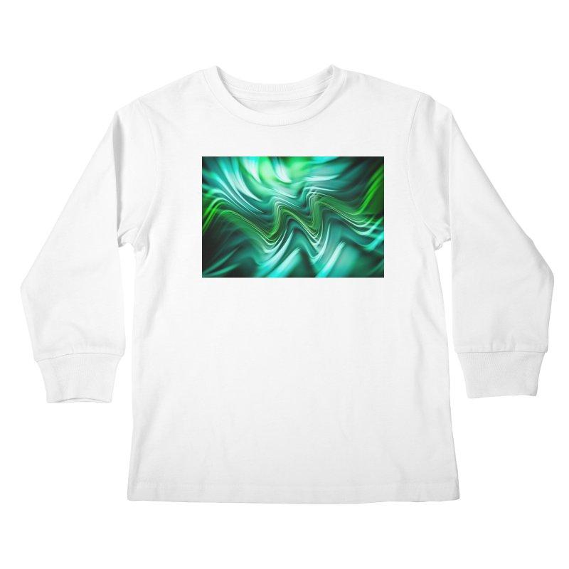 Fractal Art XXXV Kids Longsleeve T-Shirt by Abstract designs