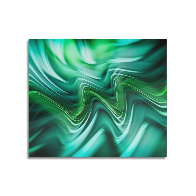 Fractal Art XXXV Home Mounted Aluminum Print by Art Design Works