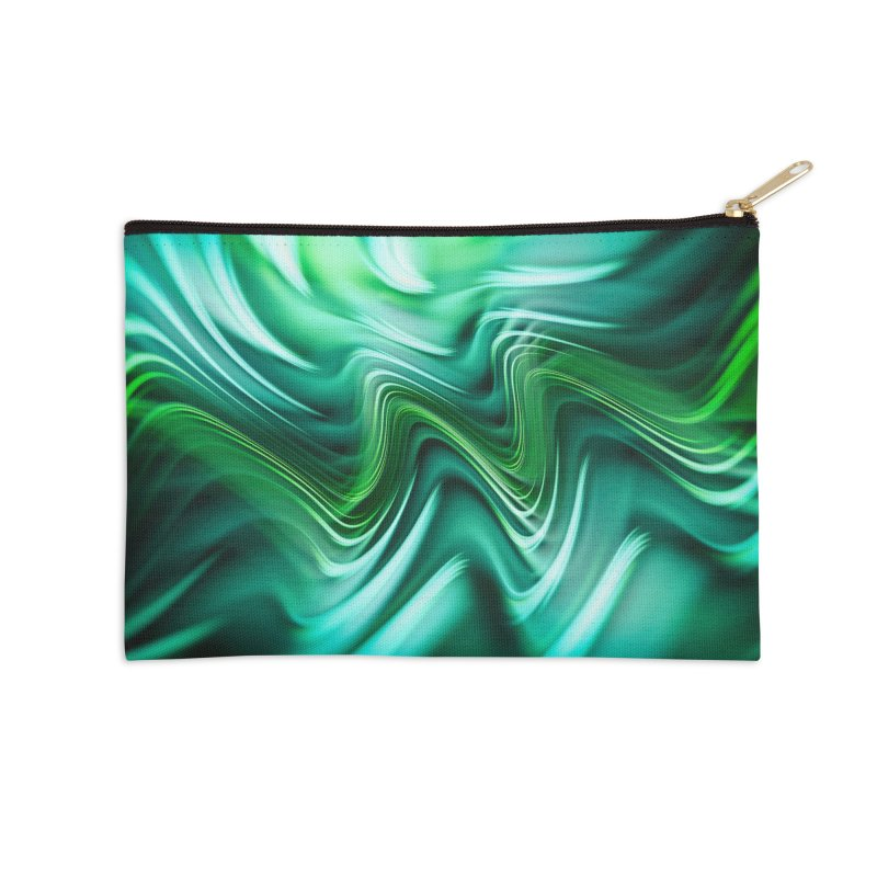 Fractal Art XXXV Accessories Zip Pouch by Abstract designs