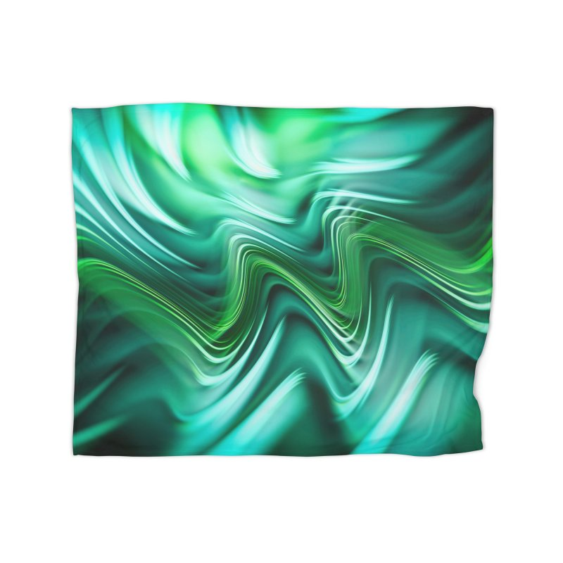 Fractal Art XXXV Home Blanket by Abstract designs
