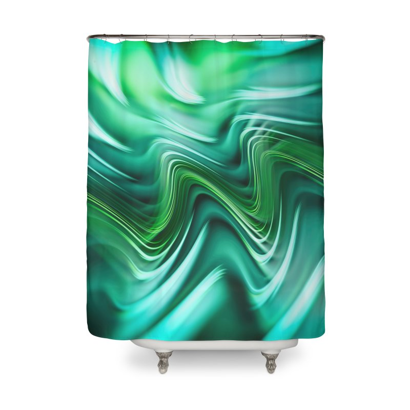 Fractal Art XXXV Home Shower Curtain by Abstract designs