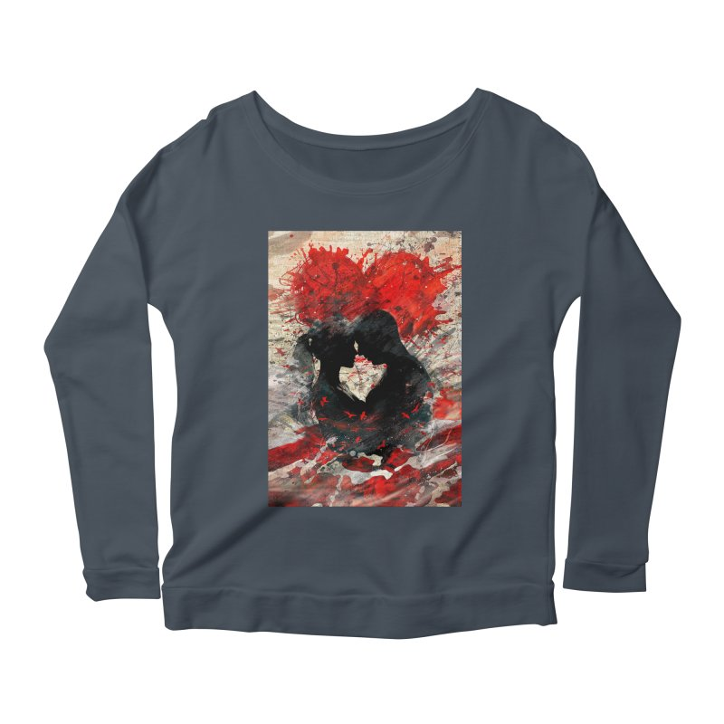 Artistic - Forever together Women's Longsleeve Scoopneck  by Abstract designs