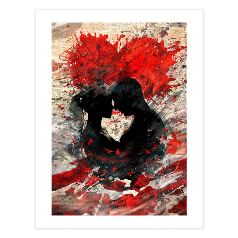 Artistic - Forever together Home Fine Art Print by Abstract designs
