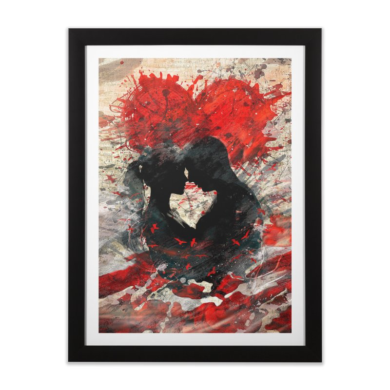 Artistic - Forever together Home Framed Fine Art Print by Abstract designs
