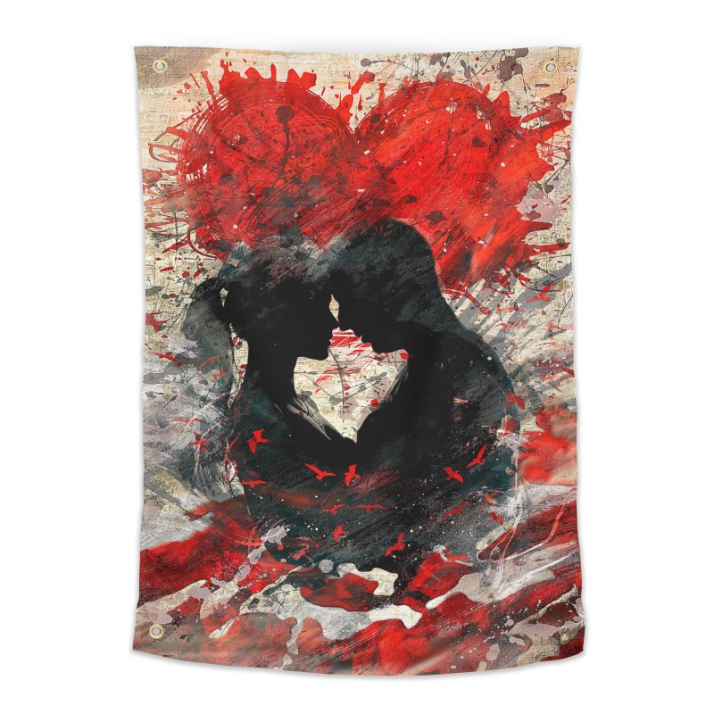 Artistic - Forever together Home Tapestry by Abstract designs