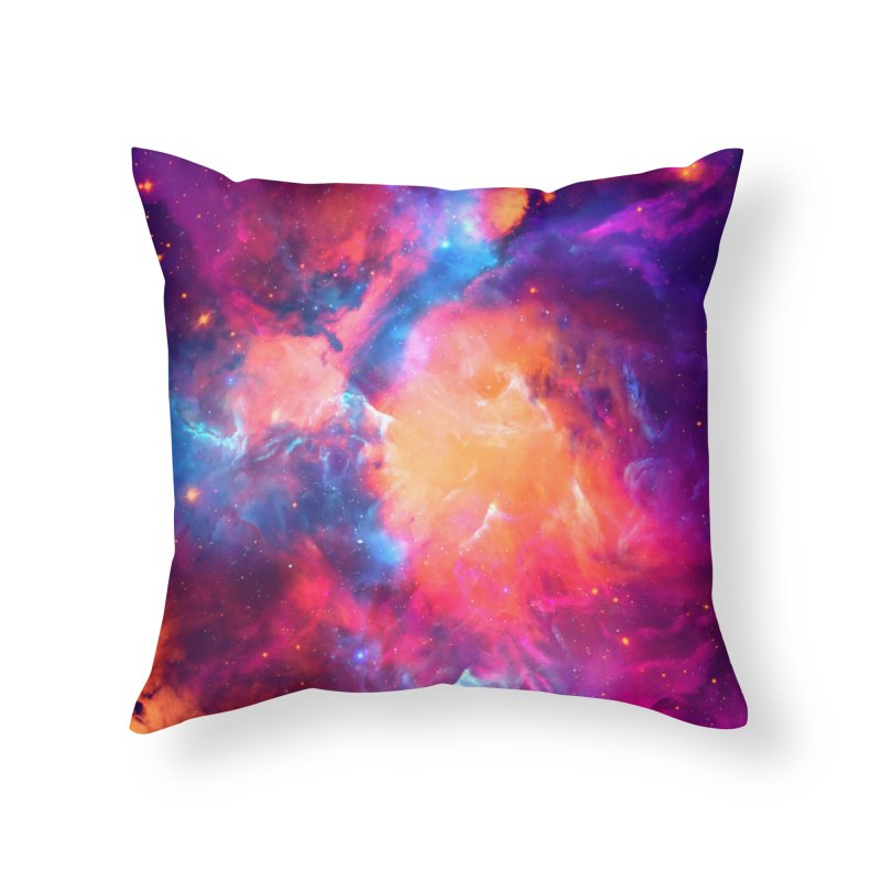 Artistic XCI - Nebula V Home Throw Pillow by Abstract designs