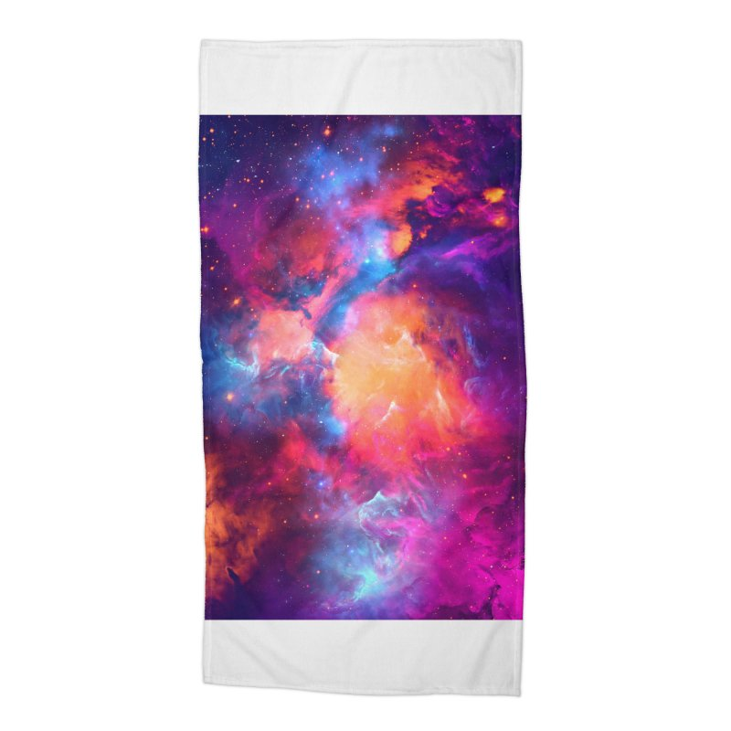 Artistic XCI - Nebula V Accessories Beach Towel by Abstract designs