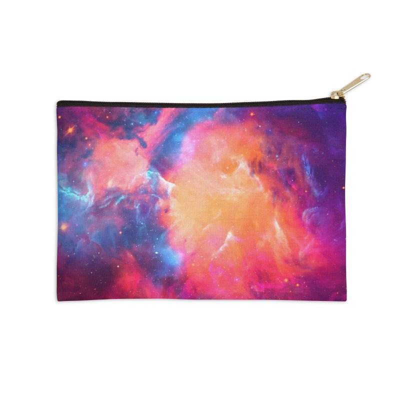 Artistic XCI - Nebula V Accessories Zip Pouch by Abstract designs