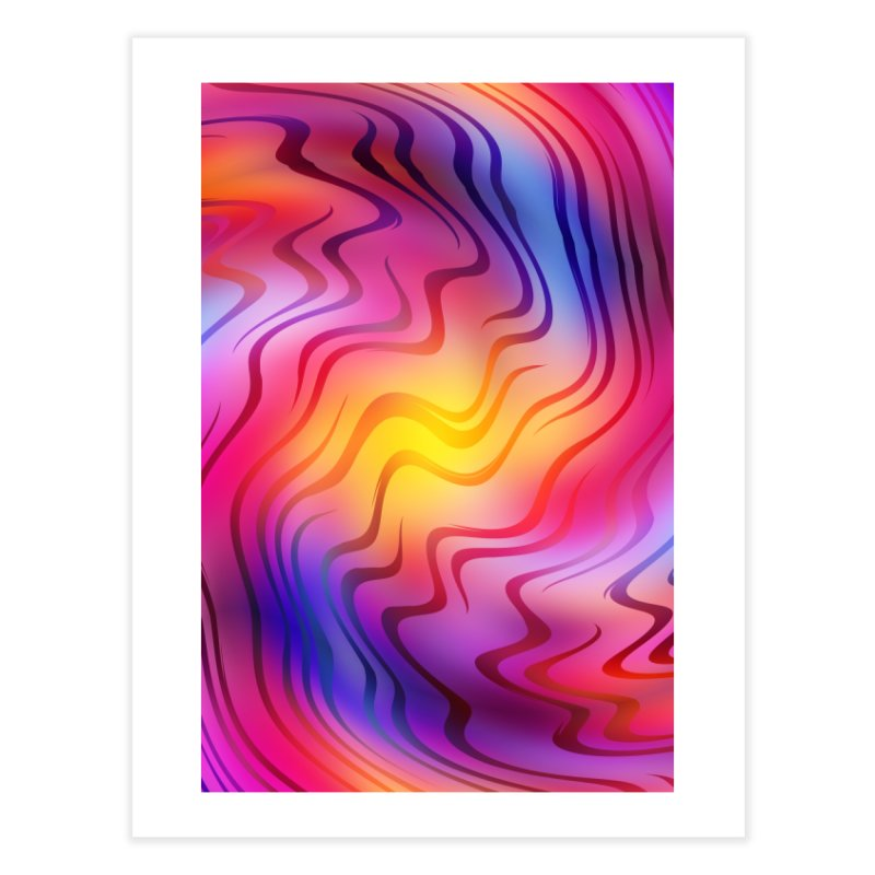 Colorful Waves Home Fine Art Print by Abstract designs