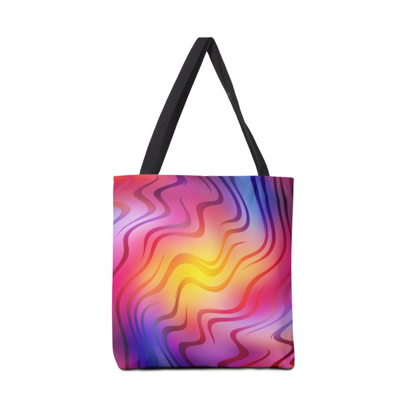 Colorful Waves Accessories Bag by Abstract designs