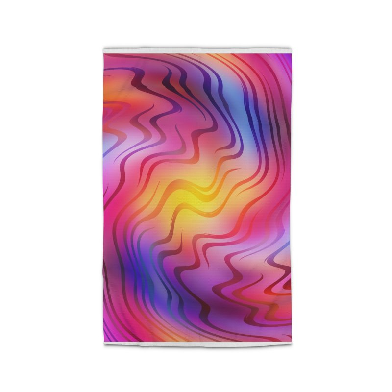 Colorful Waves Home Rug by Abstract designs