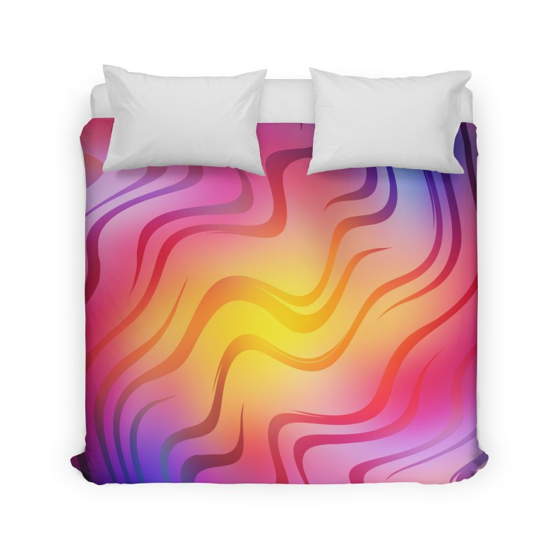 Colorful Waves Home Duvet by Abstract designs