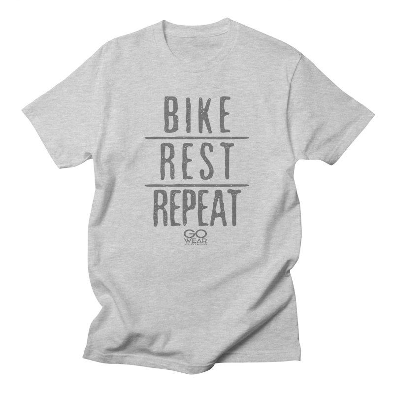 Rest and Repeat Biking Lights Men's T-Shirt by tmographics custom designs