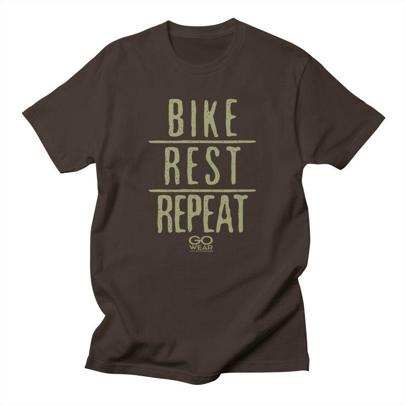 Rest and Repeat Biking Darks Men's T-Shirt by tmographics custom designs