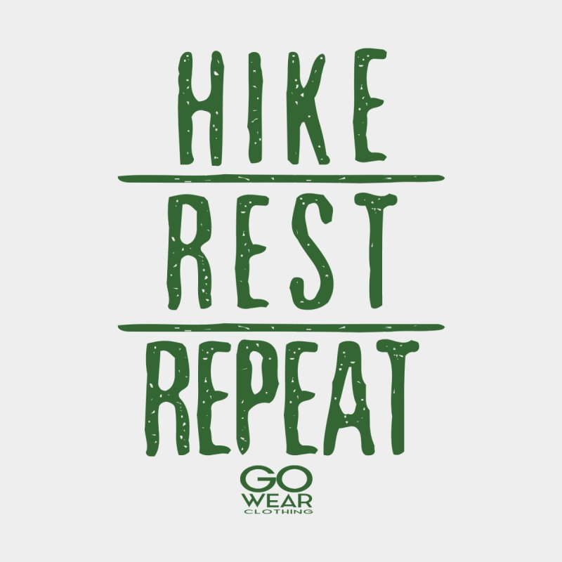 Rest and Repeat Hiking Lights Men's T-Shirt by tmographics custom designs