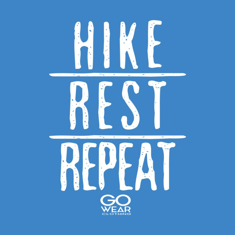 Rest and Repeat Hiking Darks Men's T-Shirt by tmographics custom designs