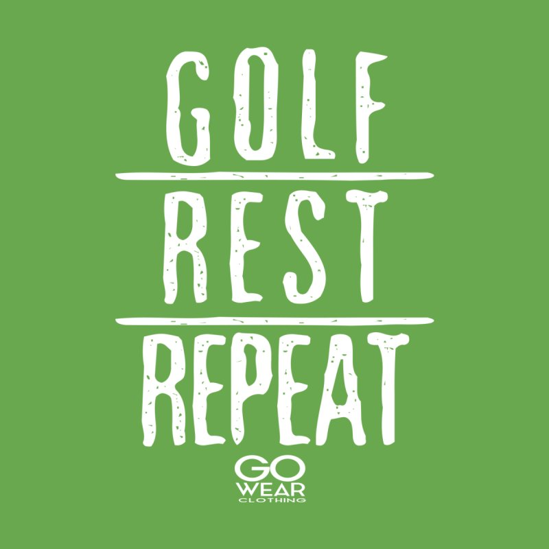 Rest and Repeat Golfing Darks Men's T-Shirt by tmographics custom designs