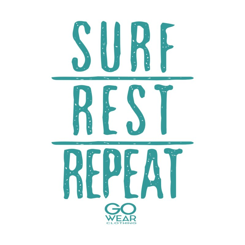 Rest and Repeat Surfing Lights Men's T-Shirt by tmographics custom designs
