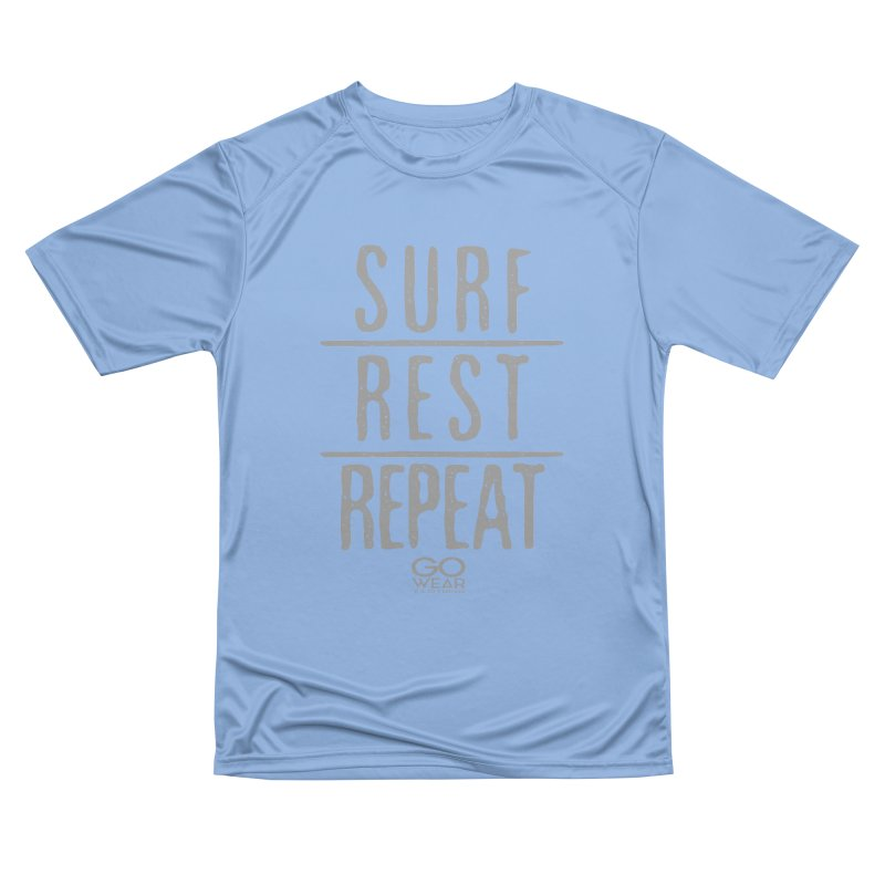 Rest and Repeat Surfing Darks Men's T-Shirt by tmographics custom designs