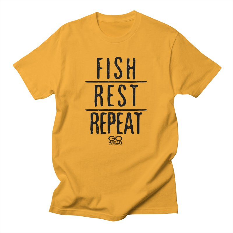 Rest and Repeat Fishing Lights Men's T-Shirt by tmographics custom designs