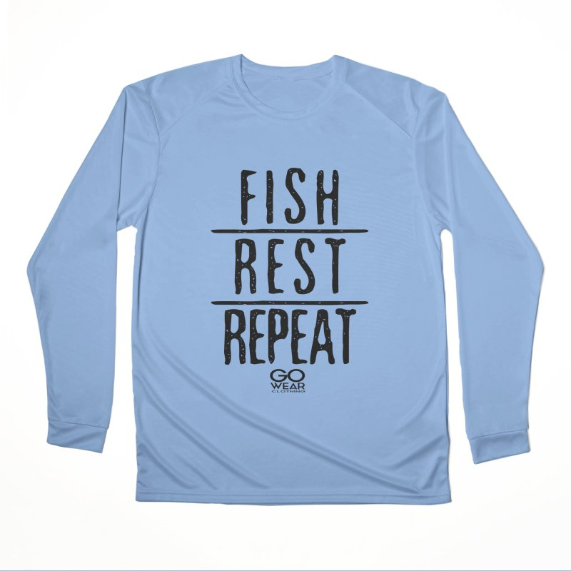 Rest and Repeat Fishing Lights Men's Longsleeve T-Shirt by tmographics custom designs