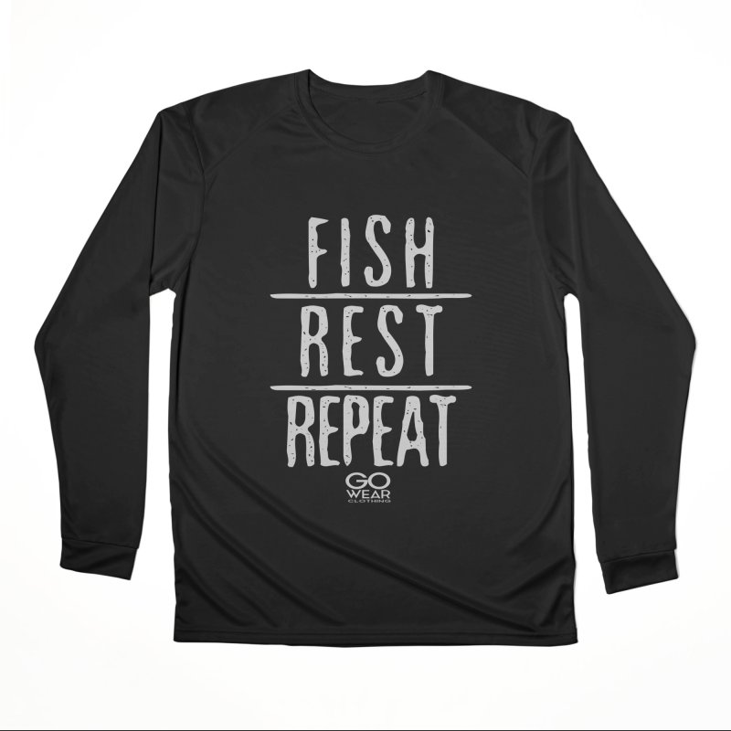 Rest and Repeat Fishing Darks Men's Longsleeve T-Shirt by tmographics custom designs