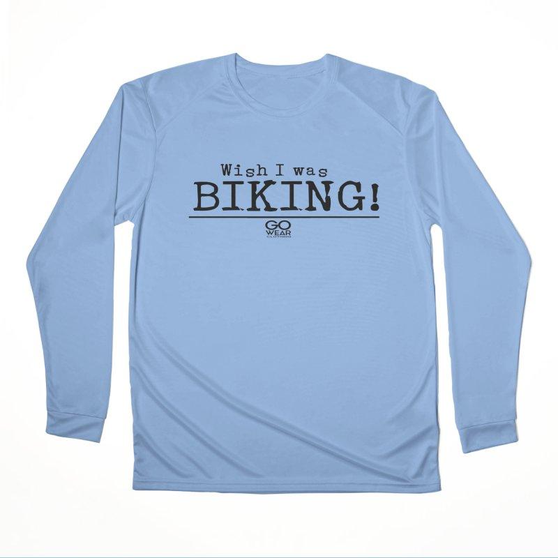 Wish I was Biking Lights Men's Longsleeve T-Shirt by tmographics custom designs